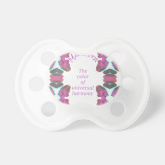 Chic 'Magenta Color of Universal Harmony Artistic Pacifiers