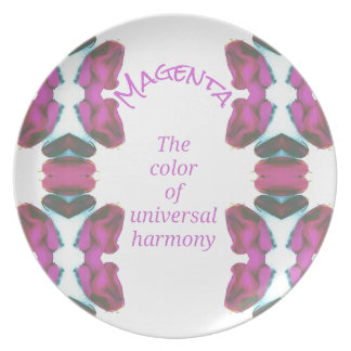 Chic 'Magenta Color of Universal Harmony Artistic Party Plates