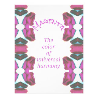 Chic 'Magenta Color of Universal Harmony Artistic Personalized Letterhead