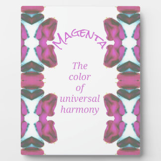 Chic 'Magenta Color of Universal Harmony Artistic Plaque