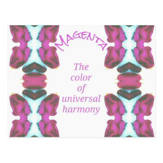 Chic 'Magenta Color of Universal Harmony Artistic Postcard