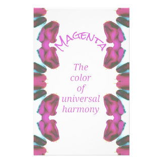 Chic 'Magenta Color of Universal Harmony Artistic Stationery
