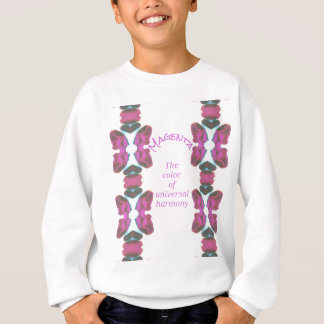 Chic 'Magenta Color of Universal Harmony Artistic Sweatshirt