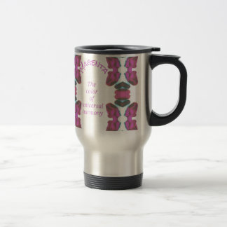 Chic 'Magenta Color of Universal Harmony Artistic Travel Mug