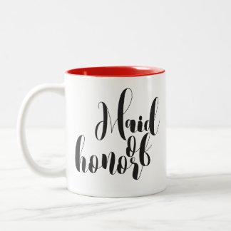 Chic Maid of honor mug, Perfect for a gift Two-Tone Coffee Mug