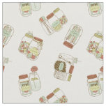 Chic mason jars design fabric