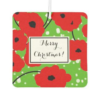 "CHIC ""MERRY CHRISTMAS"" RED POPPIES AIR FRESHENER"