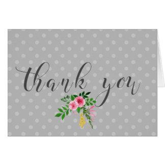 "Chic, Minimalist ""Thank You"" Card"