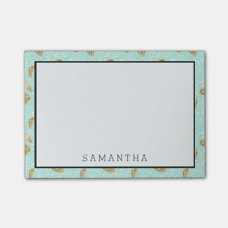 Chic Mint and Gold Diamonds Post-it Notes