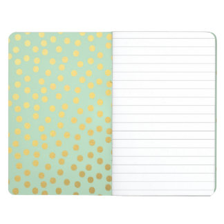 Chic Mint Gold Confetti Dots Journal