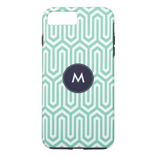 Chic Mint Navy Abstract Pattern Iphone Cover Case