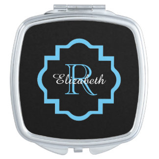 CHIC MIRROR COMPACT_BLUE/BLACK/WHITE COMPACT MIRROR