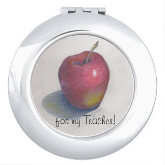 "CHIC MIRROR COMPACT_""for my Teacher!"" APPLE DESIGN"