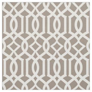 Chic Mocha Brown Trellis Lattice Pattern Fabric