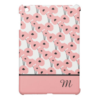 CHIC MOD 04 BLUSH PINK & BLACK POPPIES CASE FOR THE iPad MINI