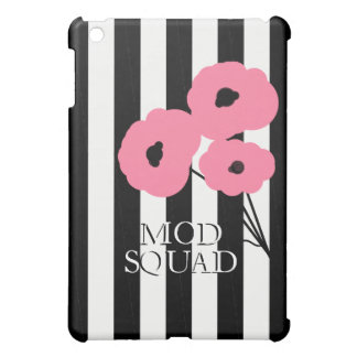 CHIC MOD 241 PINK & BLACK POPPIES CASE FOR THE iPad MINI