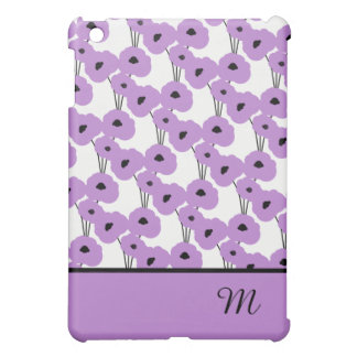 CHIC MOD 72 LAVENDER & BLACK POPPIES iPad MINI CASES