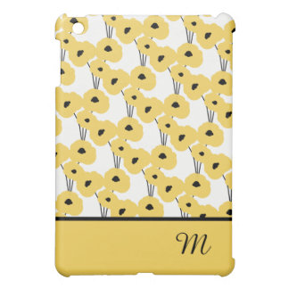 CHIC MOD YELLOW & BLACK POPPIES iPad MINI COVER