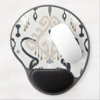 Chic modern beige black white ikat tribal pattern gel mouse pad