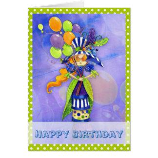 Chic Modern Birthday Card for Girl