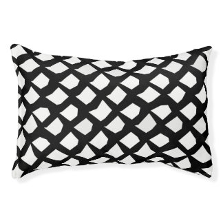 Chic Modern Black and White Pattern Pet Bed