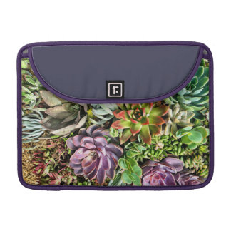 Chic Modern Colorful Succulent photo pattern Sleeves For MacBooks
