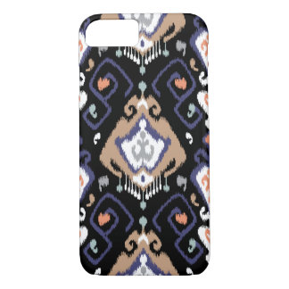 Chic modern dark ikat tribal pattern iPhone 8/7 case