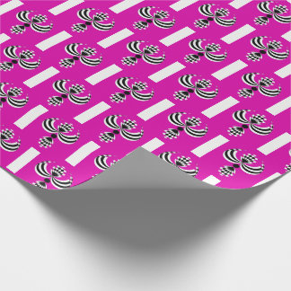 CHIC MODERN & ELEGANT DESIGN ON MAGENTA WRAPPING PAPER