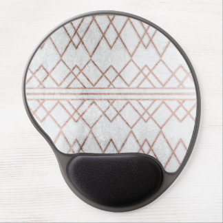 Chic Modern Faux Rose Gold Geometric Triangles Gel Mouse Pad