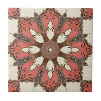 Chic Modern Floral Geometric Design Tile