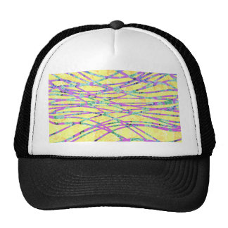 Chic Modern Floral Zebra Style Trendy Pattern Trucker Hat