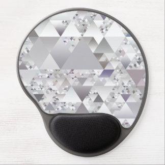 Chic modern geometric silver pattern gel mouse pad