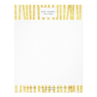 Chic & Modern Gold Bamboo Grove Letterhead