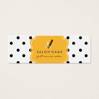 chic modern hair stylist hairstylist polka dot mini business card