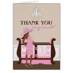Chic Modern Mom Baby Shower Thank You Card