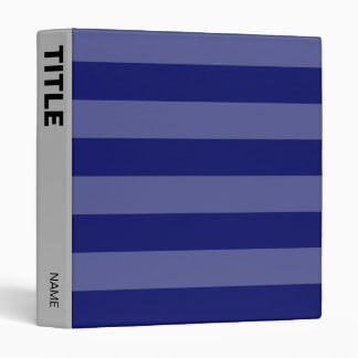 Chic Modern Navy Blue Gray Stripe Line Pattern Binder