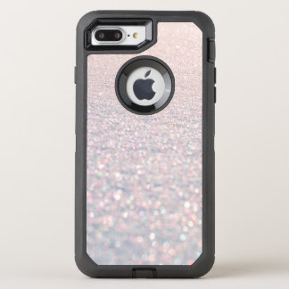 Chic modern pink stylish faux glitter pattern OtterBox defender iPhone 8 plus/7 plus case