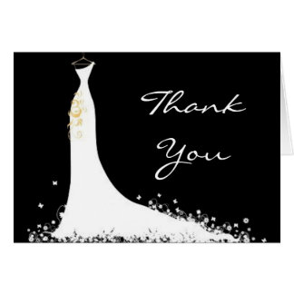 Chic Modern Wedding Thank You Card Elegant Bride