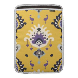 Chic modern yellow purple ikat tribal pattern MacBook sleeve