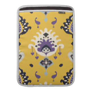 Chic modern yellow purple ikat tribal pattern sleeve for MacBook air