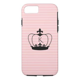 Chic Monogram Fleur-de-lis Crown iPhone 7 Case