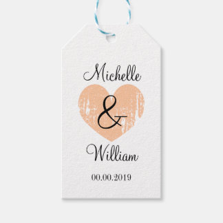 Chic monogram gift tags for stylish wedding favors