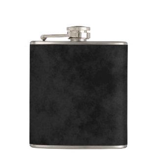 * Chic Mottled Black Hip Flask