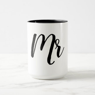 "CHIC ""MR"" MUG_BLACK/WHITE MUG"