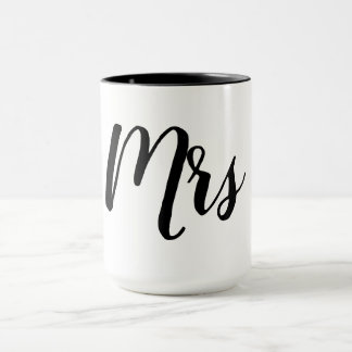 "CHIC ""MRS"" MUG_BLACK/WHITE MUG"