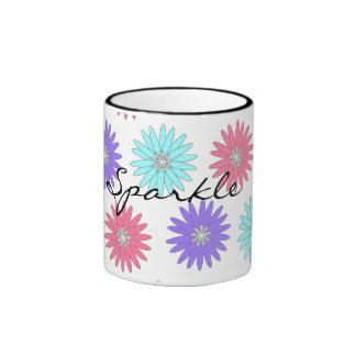 CHIC MUGS_ Sparkle FLOWERS AND DIAMONDS Coffee Mug
