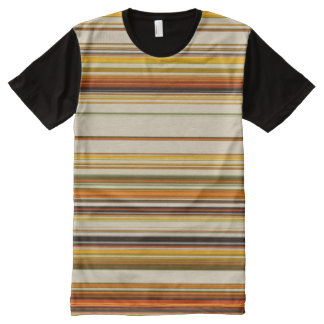 Chic multicolor all overprint Panel T-Shirt