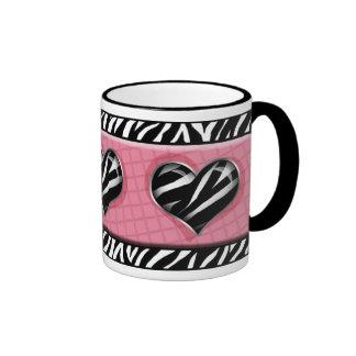 Chic My Heart Pink Zebra Print Mug