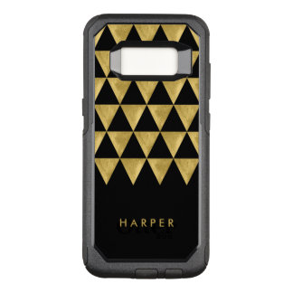 Chic Name Black Triangle Geometric OtterBox Commuter Samsung Galaxy S8 Case