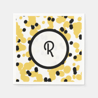 CHIC NAPKIN_FUN, MODERN  SPLATTERED DOTS DISPOSABLE NAPKIN